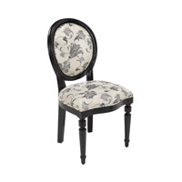 Sterling Medalion Chair in Black 150-011