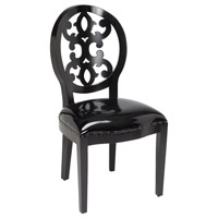 Sterling 150-012 Baroque Black Chair Home Decor