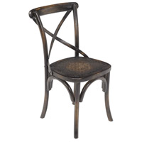 Rattan Dark Stained Wood Chair Home Decor