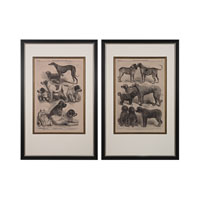 Sterling Set of 2 International Dog Show Framed Art in Black 151-007/S2