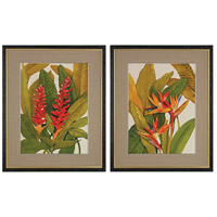 Sterling Set of 2 Tropical Framed Art in Black 151-010/S2