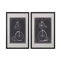 Vintage Bicycles Black Framed Art
