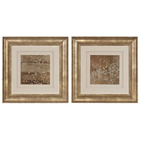 Sterling Set of 2 Golden Rule Shadow Box Framed Art in Antique Gold 151-014/S2