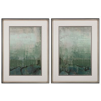 Sterling Set of 2 Emerald Sky Framed Art in Black 151-016/S2