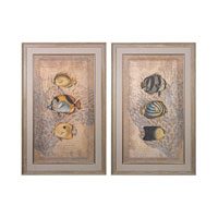 Sterling Set of 2 Ocean Trilogy Framed Art in Washed Wood 151-022/S2