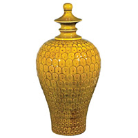 Sterling Lidded Ceramic Jar in Chartruese 152-014
