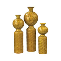 Sterling Set of 3 Lidded Ceramic Vase in Chartruese 152-016/S3