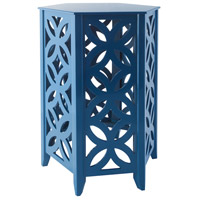 Sterling 1572-002 Majorca 20 X 16 inch Navy Side Table