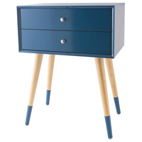Sterling 1572-005 Googie 24 X 18 inch Navy Side Table