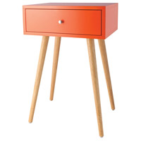 Sterling 1572-008 Astro 23 X 16 inch Tangerine Side Table