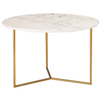 Sterling 1572-018 Glacier 24 inch Gold/White Printed Marble Accent Table