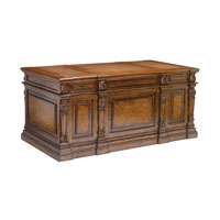 Sterling Partners Desk in Mid Tone Stained Wood 160-009