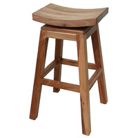 Swivel 31 inch Mahogany Bar Stool