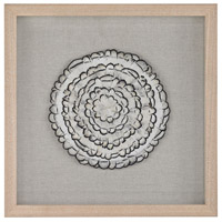 Feather Swirl Natural Feathers with White Frame Wall Decor