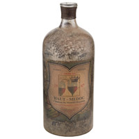 Signature Aged Mercury Glass Bottle