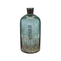 Signature Aqua Antique Mercury Glass Bottle
