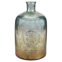 Sterling Signature Glass Bottle in Aqua Antique Mercury 169-005
