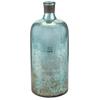 Sterling Signature Glass Bottle in Aqua Antique Mercury 169-006