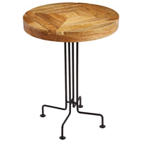 Mango Wood 18 X 18 inch Natural and Black Accent Table Home Decor