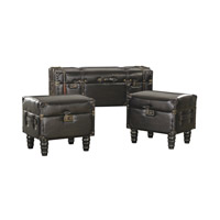 Sterling Set of 3 Travelers Trunk in Dark Tan 170-003/S3