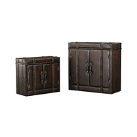 Sterling Set of 2 Travelers Trunk in Dark Tan 170-005/S2