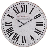 Sterling Signature Wall Clock in White and Black 171-005
