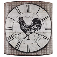 Sterling 171-008 Rooster 14 X 2 inch Wall Clock