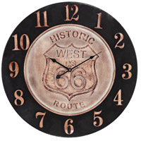 Americana Bronze and Aged Parchment Clock