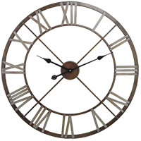 Open Center Bronze and Grey Wall Clock