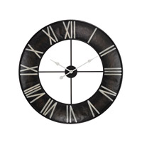 Open Ring Dark Bronze Wall Clock