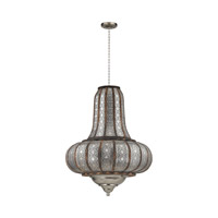 Sterling Metalwork 2 Light Pendant in Nickel and Wood 172-005