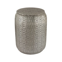 Sterling Pierced Metal Work Stool in Nickel 172-008