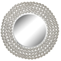 Pierced Disk 40 X 40 inch Nickel Mirror Home Decor