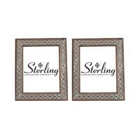 Sterling Set of 2 Pierced Metal Picture Frame in Nickel 172-016/S2