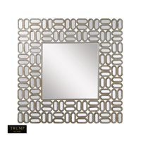 Signature 32 X 32 inch Clear and Gold Wall Mirror Home Decor