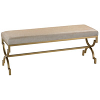 Signature Gold and Cream Metallic Double Bench