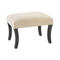 Sterling Geometric Stool in Cream and Black 180-005