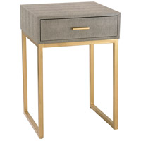 Shagreen 16 X 14 inch Grey and Gold Side Table Home Decor
