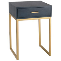 Shagreen 16 X 14 inch Navy and Gold Side Table Home Decor