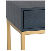 Sterling 180 011 Shagreen 24 X 16 Inch Navy And Gold Side Table Alternative  Photo