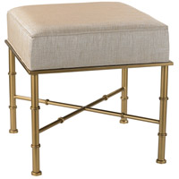 Gold Cane Gold and Cream Metallic Bench Home Decor