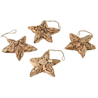 Sterling 2181-060/S4 Tidings Of Joy Natural Driftwood Stars, Set of 4