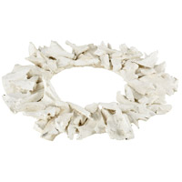 Kringle White Decorative Wood Wreath
