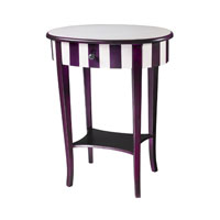 Sterling Industries Purple / White Striped Side Table 24-9256 photo thumbnail