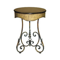 Sterling Industries Round Curled Leaf Table Side Table in Painted 26-0247