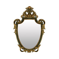 Sterling Industries Acanthus Sheild Mirror in Gretna Gold 26-5472M photo thumbnail