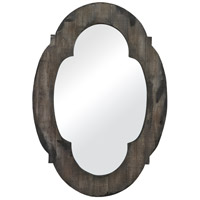 Wood Framed 28 X 19 inch Grantham Grey Wood Mirror Home Decor