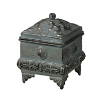 Sterling Industries Keepsake Box in Massic Silver Patina 26-8657