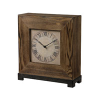 Wood Veneer 16 X 5 inch Mantle Clock