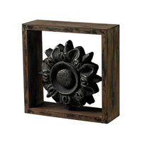 Sterling Industries Wood Frame with Cast Iron Look Centre Decor in Halesite with Blackened Iron 26-8660